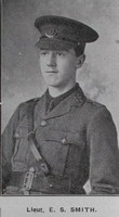 Smith E S Lt Cheshire Regiment Hyde In War Time - Randal Sidebotham July 1916