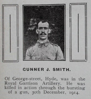 Smith J Gnr 13954 Royal Garrison Artillery Hyde In War Time - Randal Sidebotham July 1916