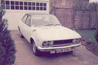 Fiat 124 2 Door Coupe 1970s GGW 236J