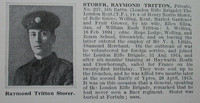 Storer R T Pte 5th London Regiment Obit De Ruvignys Roll Of Honour Vol 1