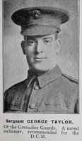 Taylor G Sergt DCM 15328 Grenadier Guards Hyde In War Time - Randal Sidebotham July 1916