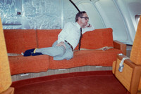 In The Lounge Of A Singapore Airlines Jumbo Jet 1970s