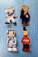 Four Alison Character Teddy Badges Handmade In Scotland