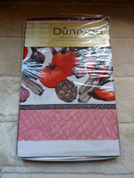 "Large Vintage Unopened Retro Dunmoy Kitchen Tablecloth 50"" x 50"""