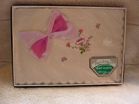 Vintage Unopened Blackstaff Embroidered Tray Cloth Irish Linen