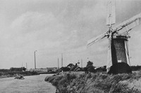 An Old Mill At Ludham On The Norfolk Broads 1930s