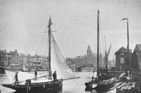 Home From The Broads At Yarmouth 1890s
