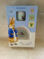 Wedgewood Peter Rabbit Two Piece Mug And Bowl Christening Set In Box