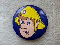 Vintage Fireman Sam Pin Badge 1990s