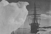 Captain Scott's Expedition Landing At The Ice Foot Near Cape Evans Antarctica