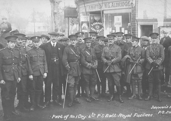 Royal Fusiliers 21st Battalion In Ashtead