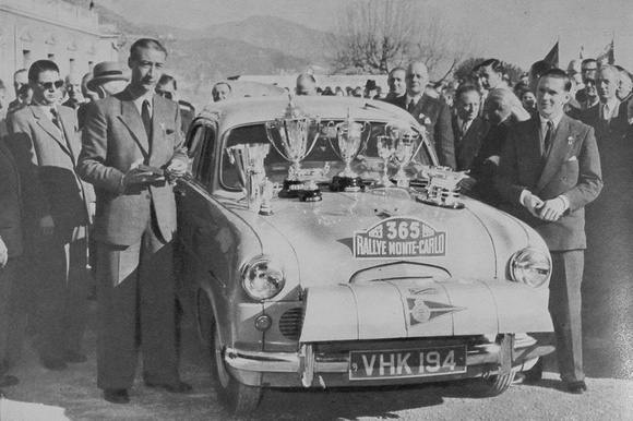 A British Ford Zephyr After Winning The Monte Carlo Rally 1953