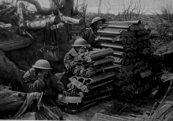 A Canadian Observation Party  Are Using A Captured German Artillery Ammunition Dump As An Observation Post