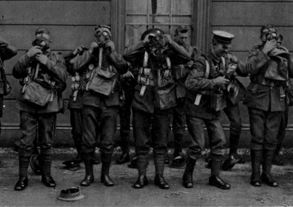 Gas Mask Practice By The Scots Guards
