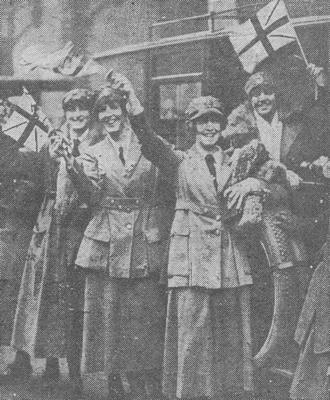 UK Photo And Social History Archive: The Graphic W &emdash; Women In The WRAF Celebrating The End Of The War