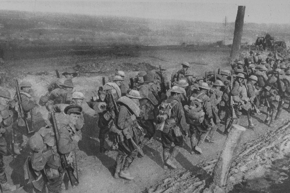 Australian Soldiers Marching To The Trenches