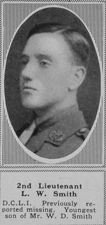 Smith L W 2nd Lt 5th Duke Of Cornwall's Light Infantry The Sphere 25th Jan 1919