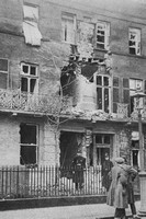 A House In The Crescent Scarborough Wrecked By Shells