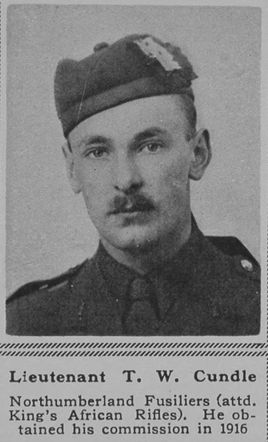 UK Photo Archive: C &emdash; Cundle T W Lt Northumberland Fusiliers The Sphere 8th Dec 1917