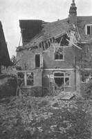 Ruined Houses In Beech House Road Croydon After The Zeppelin Air Raid 13th October 1915