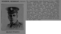 Kimber H Pte 632916 20th London Regiment Obit De Ruvignys Roll Of Honour Vol 5