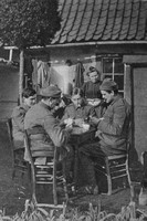 Men Of The HAC Playing Cards In Their Billets In France