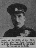 Salmon G Major DSO Rifle Brigade The War Illustrated 8th May 1915