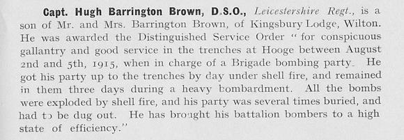 UK Photo Archive: 1917 &emdash; Barrington-Brown H Captain DSO Leicestershire Regiment 1