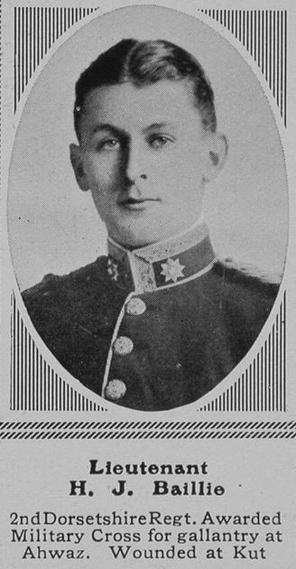 UK Photo Archive: B &emdash; Baillie H J Lt MC 2nd Dorset Regt The Sphere 8th Apr 1916