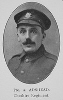 Adshead A Pte Cheshire Regiment William Graham Company