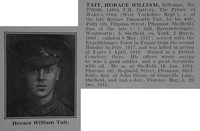 Tait H W Rfn 270096 6th West Yorkshire Regiment (Prince of Wales's Own) Obit De Ruvignys Roll Of Honour Vol 3