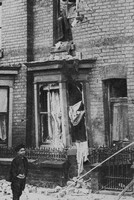 A House In Commercial Street Scarborough Wrecked By A German Shell