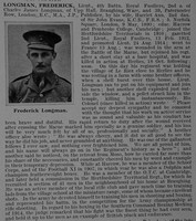 Longman F Lt 4th London Regiment Obit De Ruvignys Roll Of Honour Vol 1