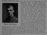 Rankin W J Lt 9th York & Lancs Regiment Obit De Ruvignys Roll Of Honour Vol 3