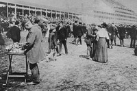 A Scene At Epsom Derby c.1910