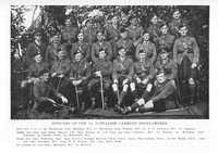Cameron Highlanders 7th Battalion Officers