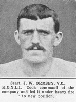 Ormsby J W Sergt VC Kings Own Yorkshire Light Infantry