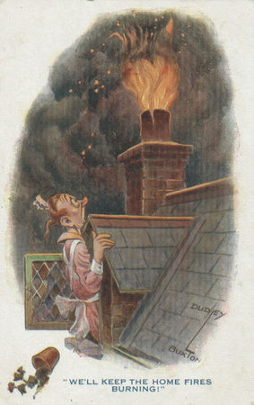 Comic Postcard Keep The Home Fires Burning