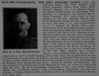 Kay-Shuttleworth E J Captain The Hon 7th Rifle Brigade Obit De Ruvignys Roll Of Honour Vol 5
