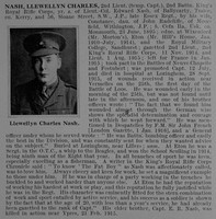 Nash L C 2nd Lt 2nd KRRC De Ruvignys Obit Roll Of Honour Vol 1