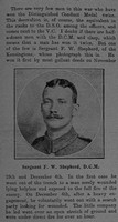 Shepherd F W Sergt DCM + Bar 13th London Regiment The Graphic 22nd July 1915