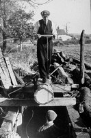 At Work In The Terling Saw Pit Essex Late 1940s