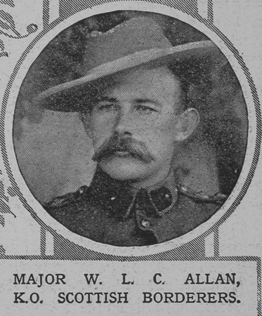 UK Photo Archive: Portraits From The Illustrated London News &emdash; Allan W L C Major Kings Own Scottish Borderers The Illustrated London News 12th Dec 1914
