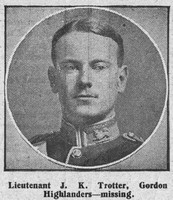 Trotter J K Lt Gordon Highlanders The Graphic 9th Sep 1914