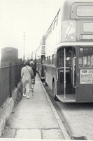 Boarding Buses In Epsom For The Derby 1960s 2