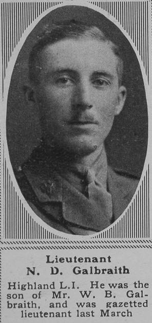 UK Photo Archive: G &emdash; Galbraith N D Lt 7th HLI The Sphere 28th Sep 1918