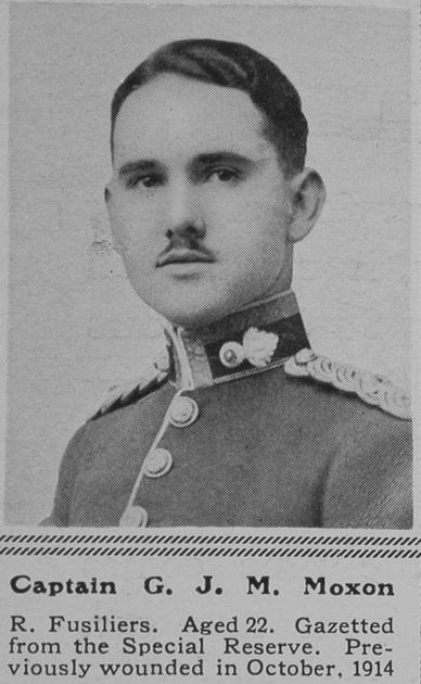 UK Photo Archive: M &emdash; Moxon G J M Captain 4th Royal Fusiliers The Sphere 29th Apr 1916