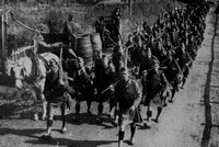 The London Scottish Arriving In France Sep 1914