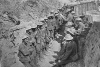 A Roll Call Of The 1st Battalion Lancashire Fuiliers On The Afternoon 1st July 1916