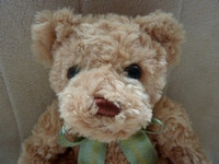 "Cuddly Plush Harrods Collectable Teddy Bear 10"" With Ribbon"